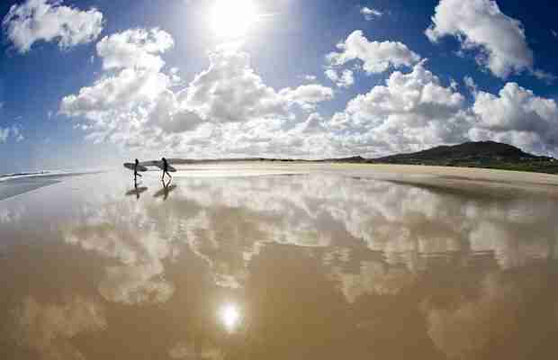 pernoctar Playa Razo (Galicia)