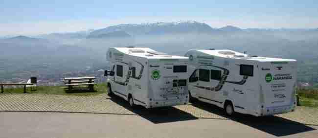 Alquiler de autocaravana grande y pequeña económica en Asturias