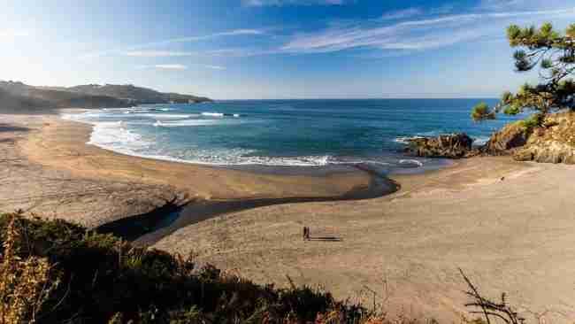 la playa de frejulfe en autocaravana estacionamiento y visitas recomendadas