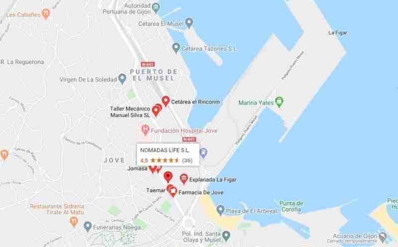 posible nuevo parking caravanas y autocaravanas en Gijón
