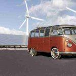Volkswagen e-Bulli: furgoneta VW hippie y eléctrica