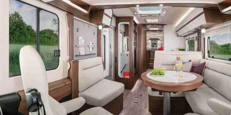 interior y acabados exclusivos de la  Hymer clase B masterline