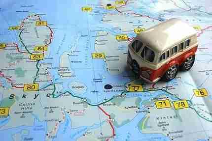 autocaravana mapa preparando viaje