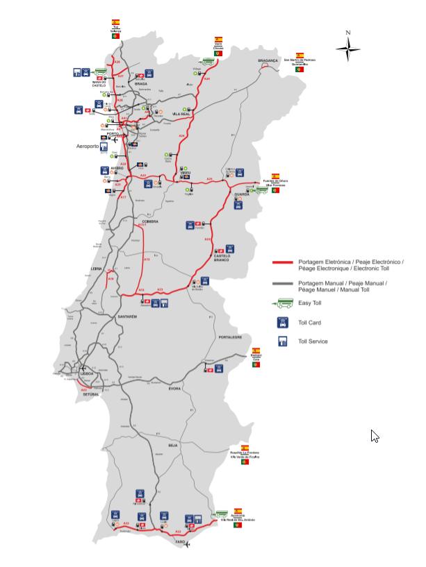 peajes de portugal tarifas y métodos de pago