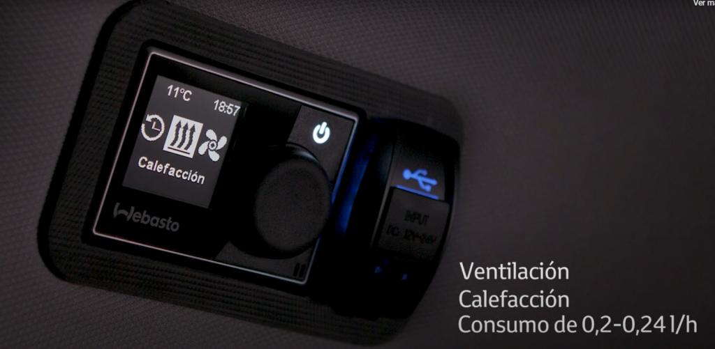 camper de Toyota Proace Verso sistema de calefaccion