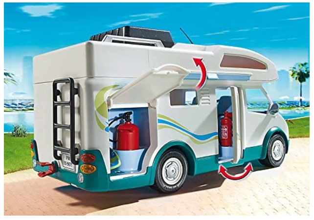 caravana playmobil con extintores de juguete