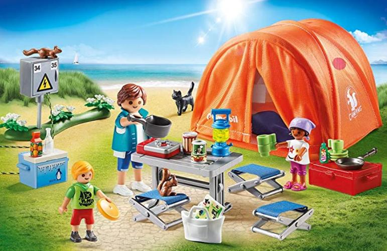 tienda de campaña playmobil
