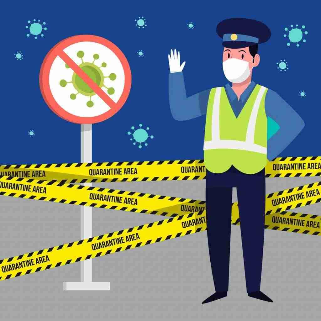 policia alto navida 2020 covid
