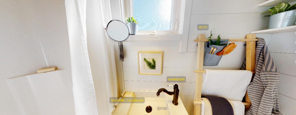 Detalles del cuarto de baño de la Tiny home  Projectde Ikea