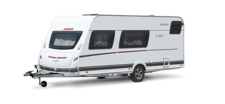caravana familiar con cama doble y litera 495 QSK Dethleffs C'Go