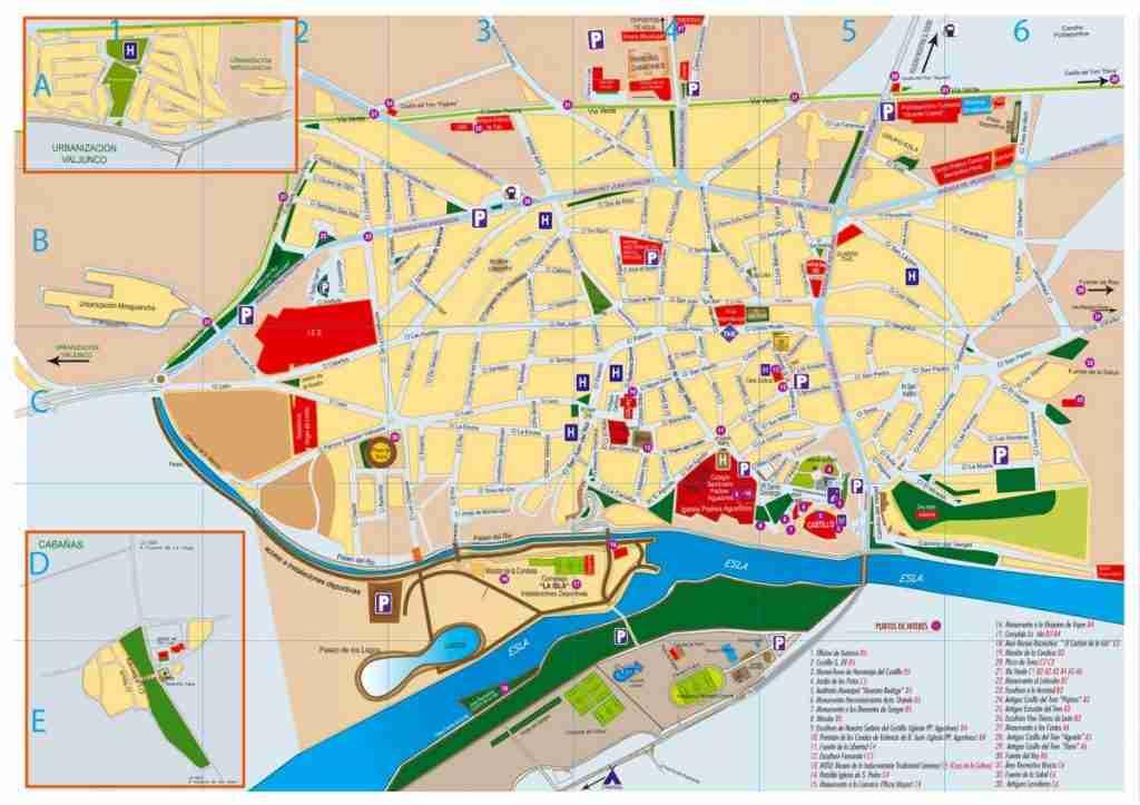 plano de Valencia de Don Juan en León o Coyanza