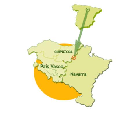 Trazado y ubicación de la vía verde de Plazaola