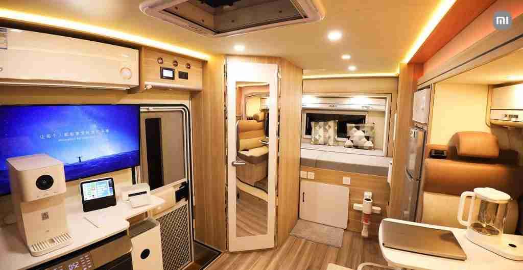 Interior de la nueva autocavanara de Xiaomi | seguros vicente velasco