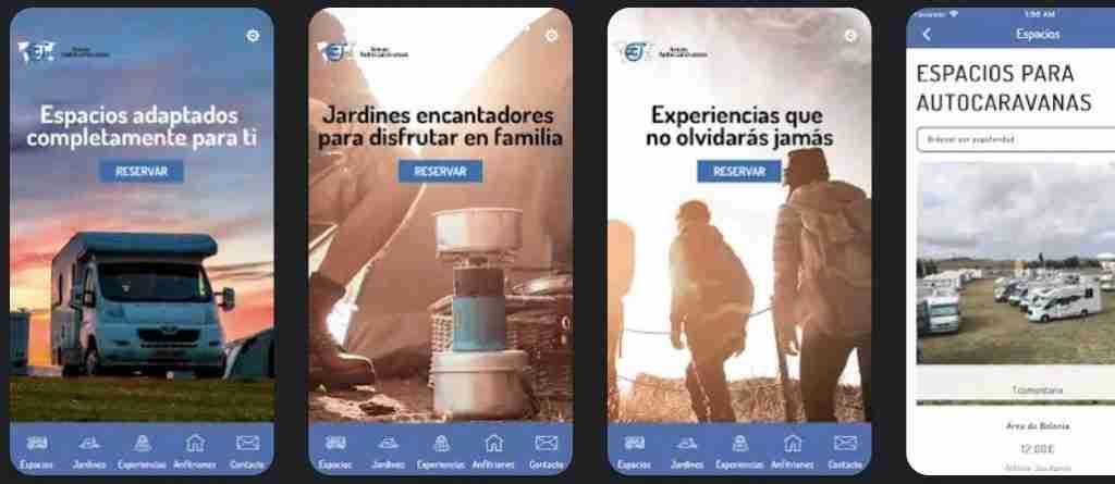 area de autocaravanas app para autocaravanistas y campers