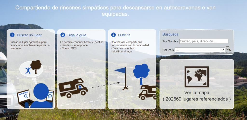 parknight apps para autocaravanas