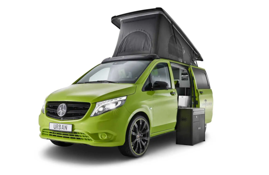 VANTourer Urban en color verde presentada en caravan salon 2021